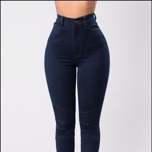 Fashion Nova • High Rise Skinny Moto Jeans
